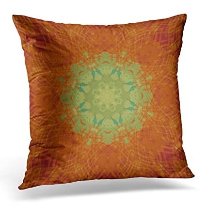 Amazon TORASS Throw Pillow Cover Red Hot Orange Wine Sage Green Adorable Orange And Teal Decorative Pillows