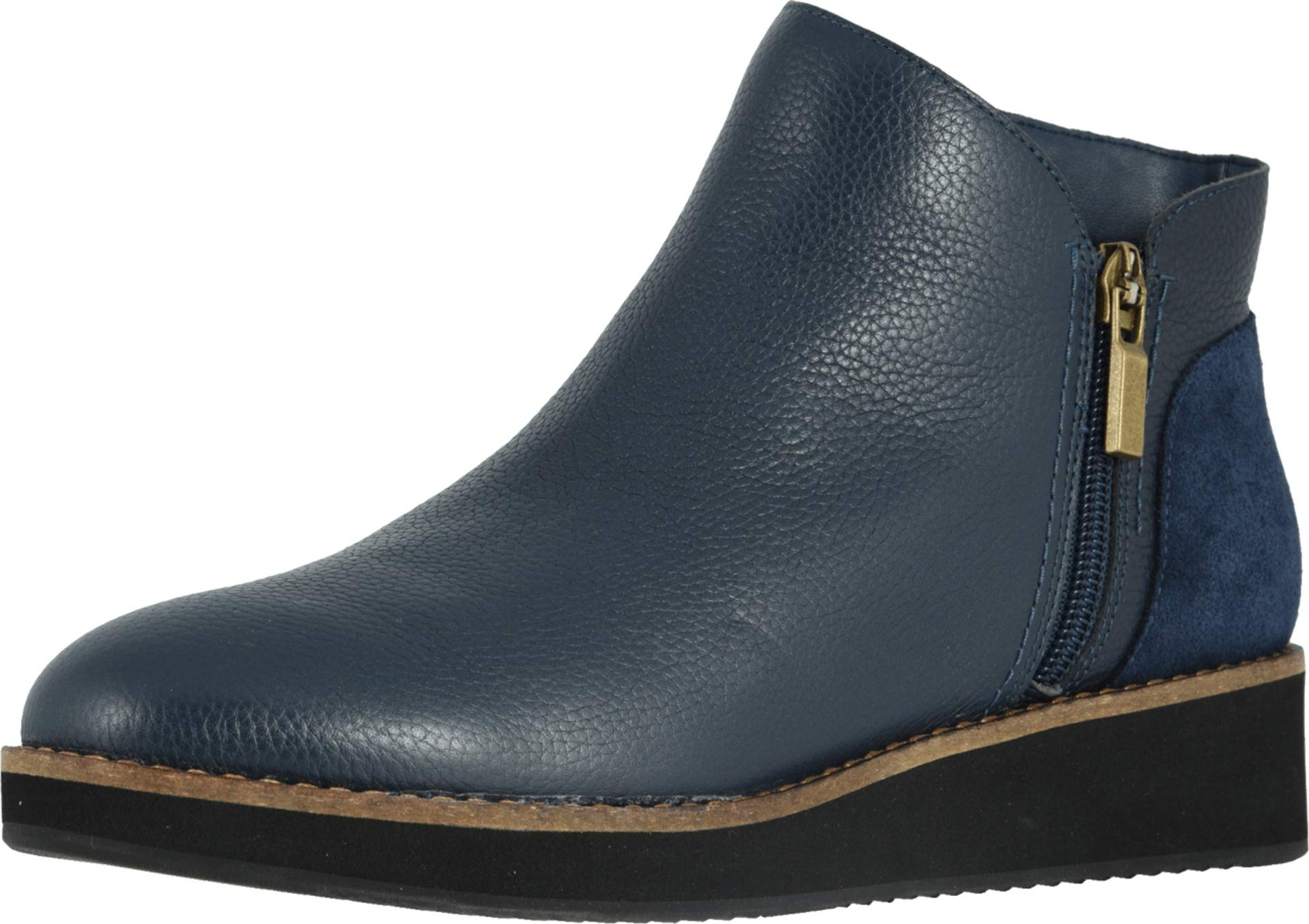 SoftWalk Women's Wesley Ankle Boot, Navy, 9.5 W US by SoftWalk