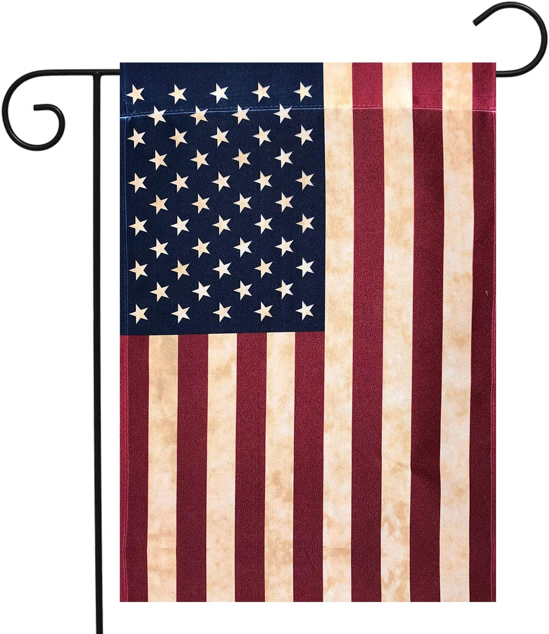 Briarwood Lane Tea Stained American Garden Flag American Flag 12.5