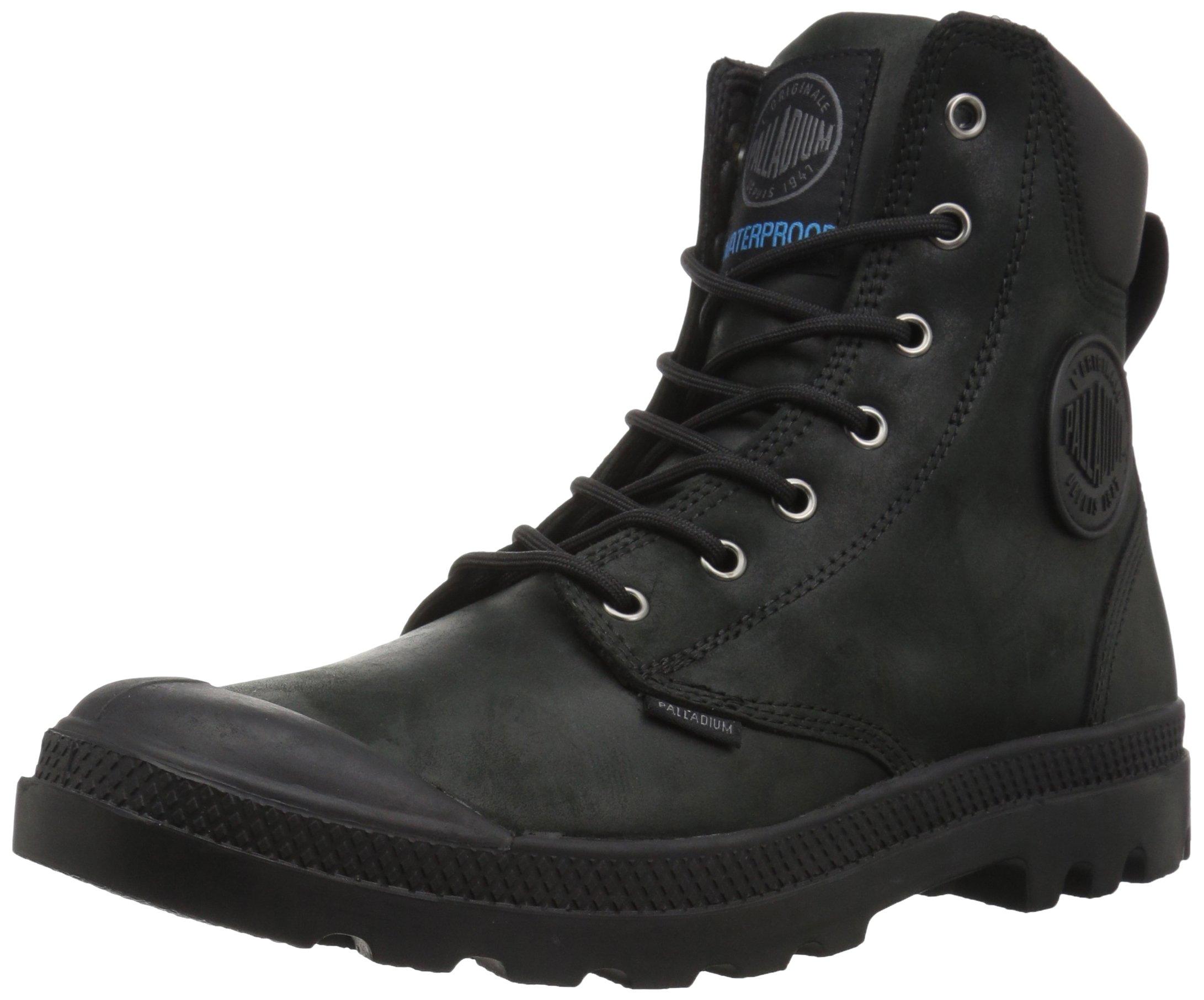 Palladium Men's Pampa Cuff WP Lux Rain Boot, Black, 12 M US