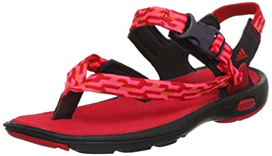 adidas Libria G64443, Damen Sandalen, Rot (Dark Brown / Vivid Red ...