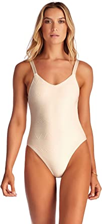 Vitamin A Womens Leah High Leg Over The Shoulder One Piece Swimsuit
