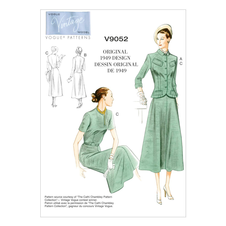 Vogue V9052 VGE B5 8 10 12 14 16 Schnittmuster zum Nähen Elegant