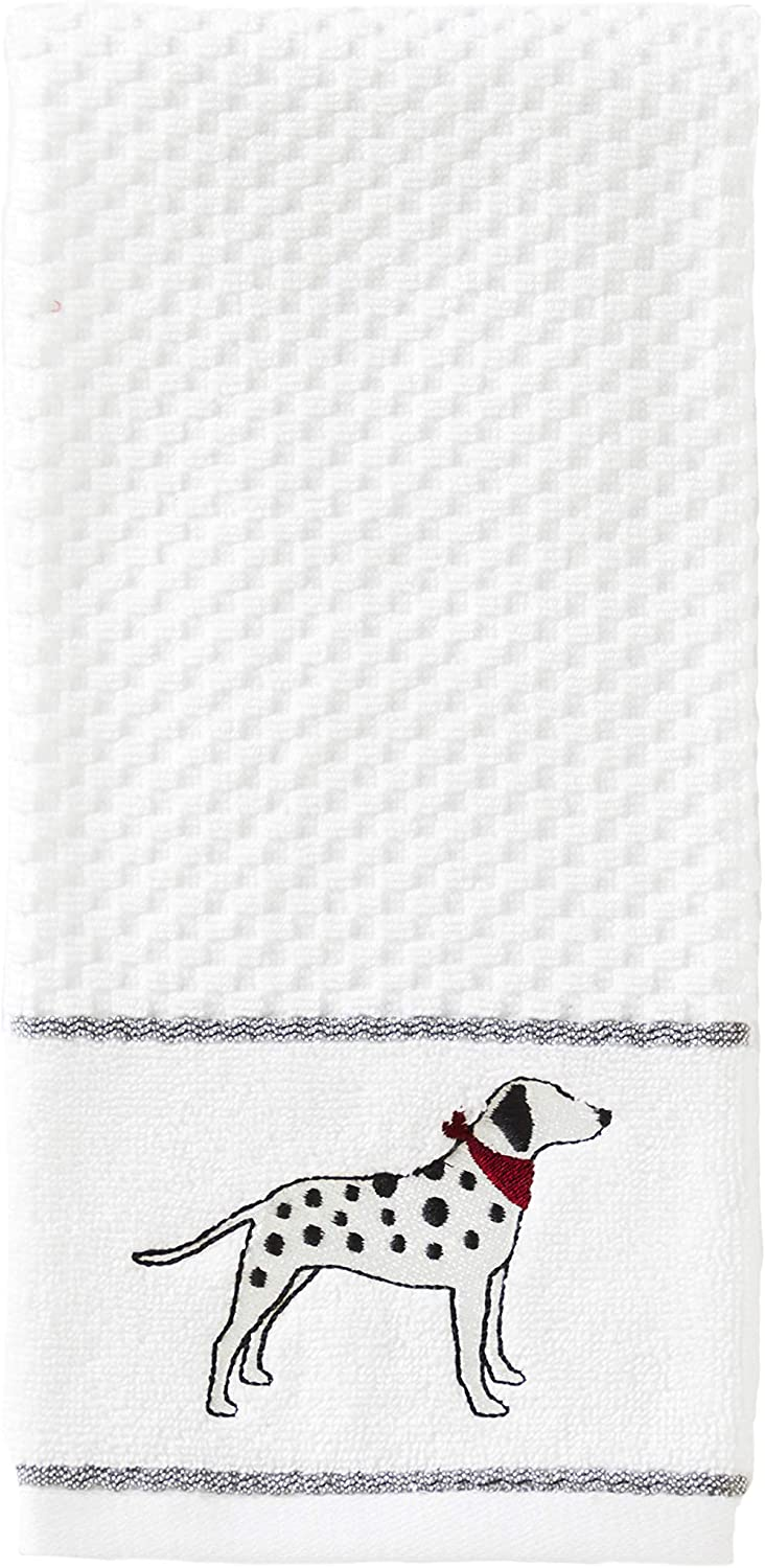 SKL Home by Saturday Knight Ltd. Vern Yip Fa La La Dogs Hand Towel Set, Dalmatian, 2 Pack