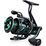 Sougayilang Spinning Fishing Reel Light Weight 6.2:1 High-Speed Gear Ratio with 12+1 Stainless BB and CNC Aluminum Spool…