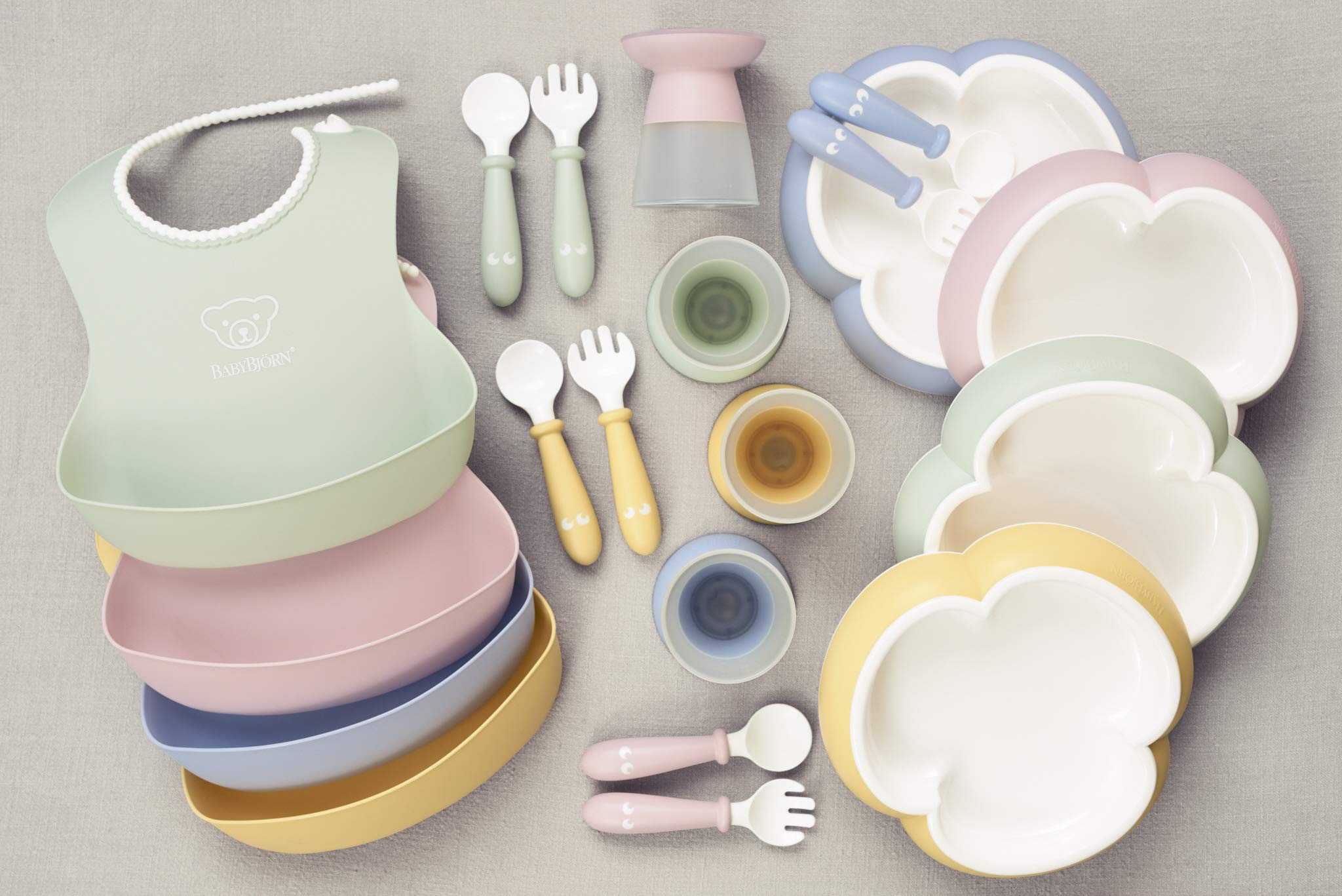 BABYBJORN Baby 2 Piece Plate, Spoon and Fork, Powder Blue by BabyBjörn (Image #4)
