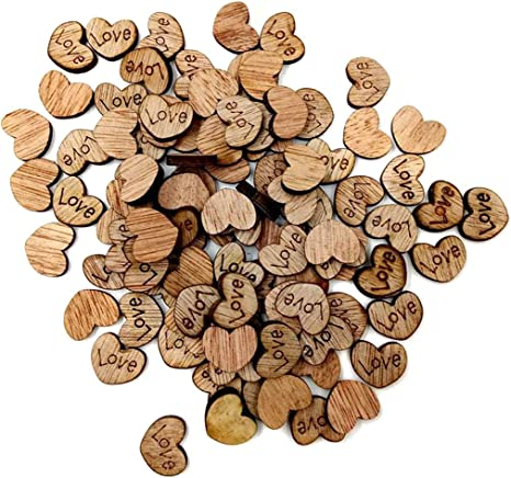 Amazon Com Numblartd Rustic Wooden Love Heart Shaped Small Wood Slices 15 X 12mm Diy Manual Crafts For Valentine S Day Wedding Table Scatter Decoration Embellishments Accessory 500 Pcs