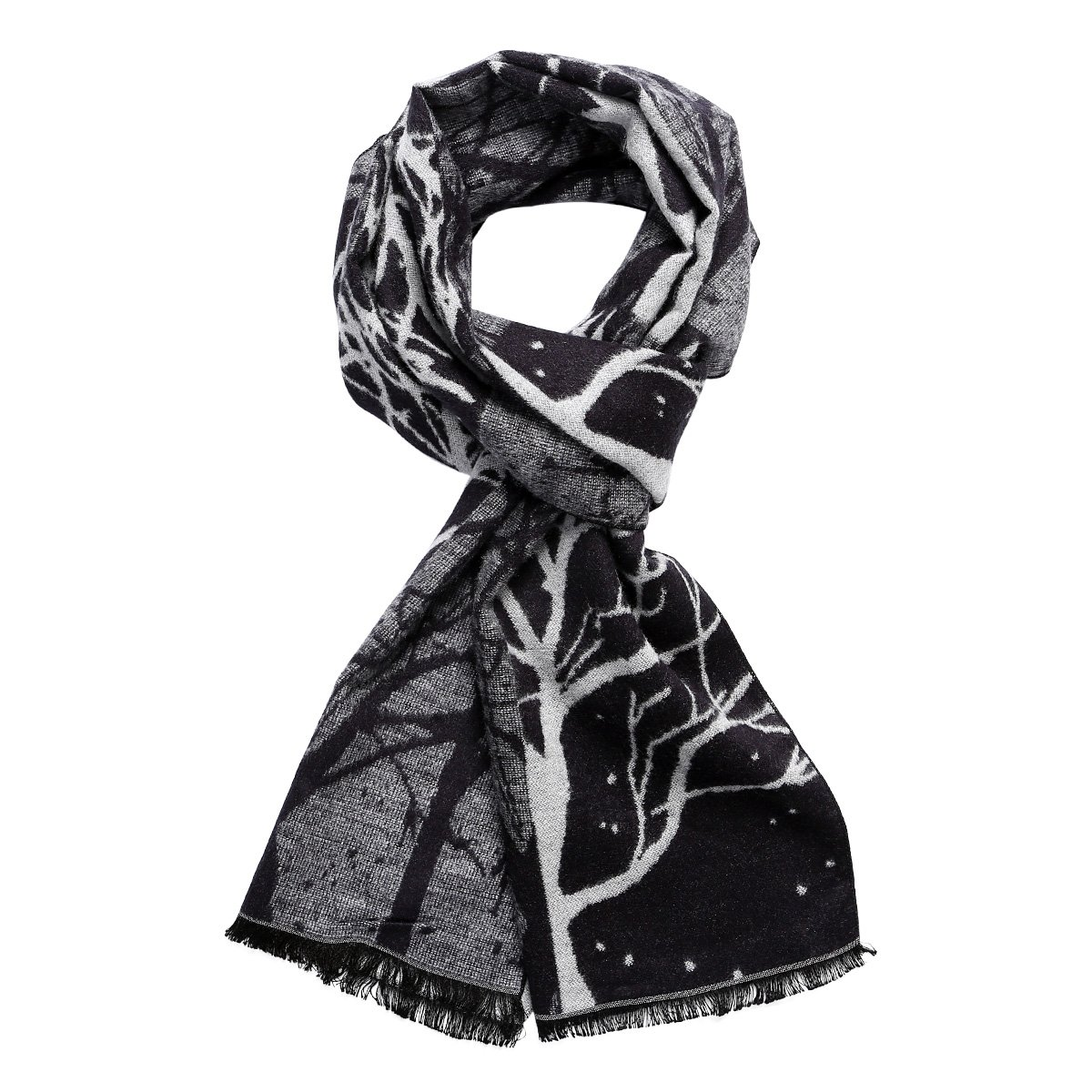 SANGBO Men Plaid Cashmere Feel Winter Scarf Gifts For Men