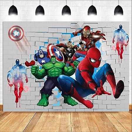 Cartoon Spiderman Superhelden Fotohintergrund Vinyl 2 1 Kamera