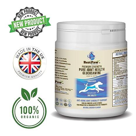 Glucosamina para perros y gatos 300 comprimidos - Vitaminas para el alivio del dolor en las articulaciones con condroitina - Suplemento natural Ayuda ...