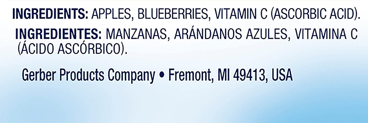 Gerber 2nd Foods, Apple Blueberry 2 pk, 7 oz: Amazon.com: Grocery ...