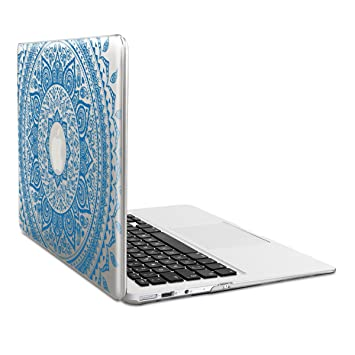 kwmobile Funda para Apple MacBook Air 13(2011-mediados de 2018) Case Protector Duro para Laptop - Carcasa Delgada y Transparente diseño de Sol hindú ...