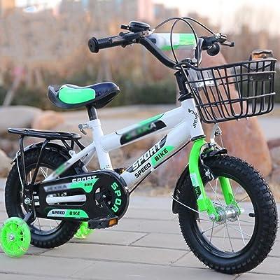 DUO Vélos enfan Vélos pour enfants de vélo d'enfant 2-11 ans- 12/14/16/18/20 pouces rouge bleu orange vélo pliant réglable pour enfants