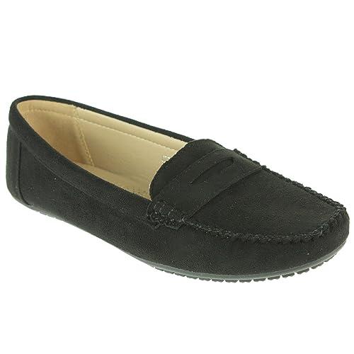 Mujer Señoras Comodidad Trabajo de Oficina Inteligente Ligero Mocasines Colegio Plano Bomba Zapatos tamaño: Amazon.es: Zapatos y complementos