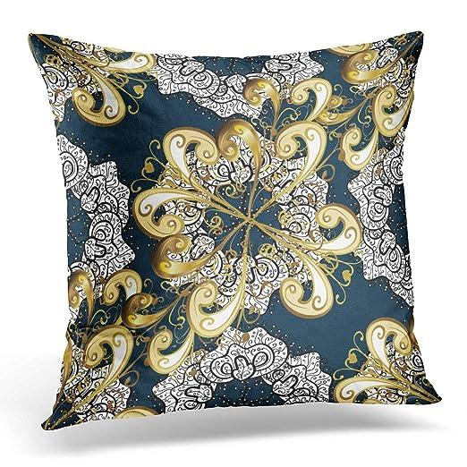 XuLuo - Funda de almohada de color blanco con diseño de ...