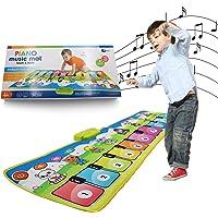 KITTIUS Music Piano Mat for Kids,Musical Keyboard Animal Blanket Touch Playmat Electronic Music Play Blanket Dance Mat…