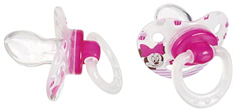 Tigex Minnie - Pack de 2 chupetes fisiológicos, de silicona ...
