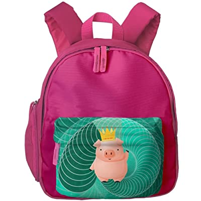 delicate Cartoon Pig Boy Zipper Student Backpack For Home Office ... 541a3c124b8ec