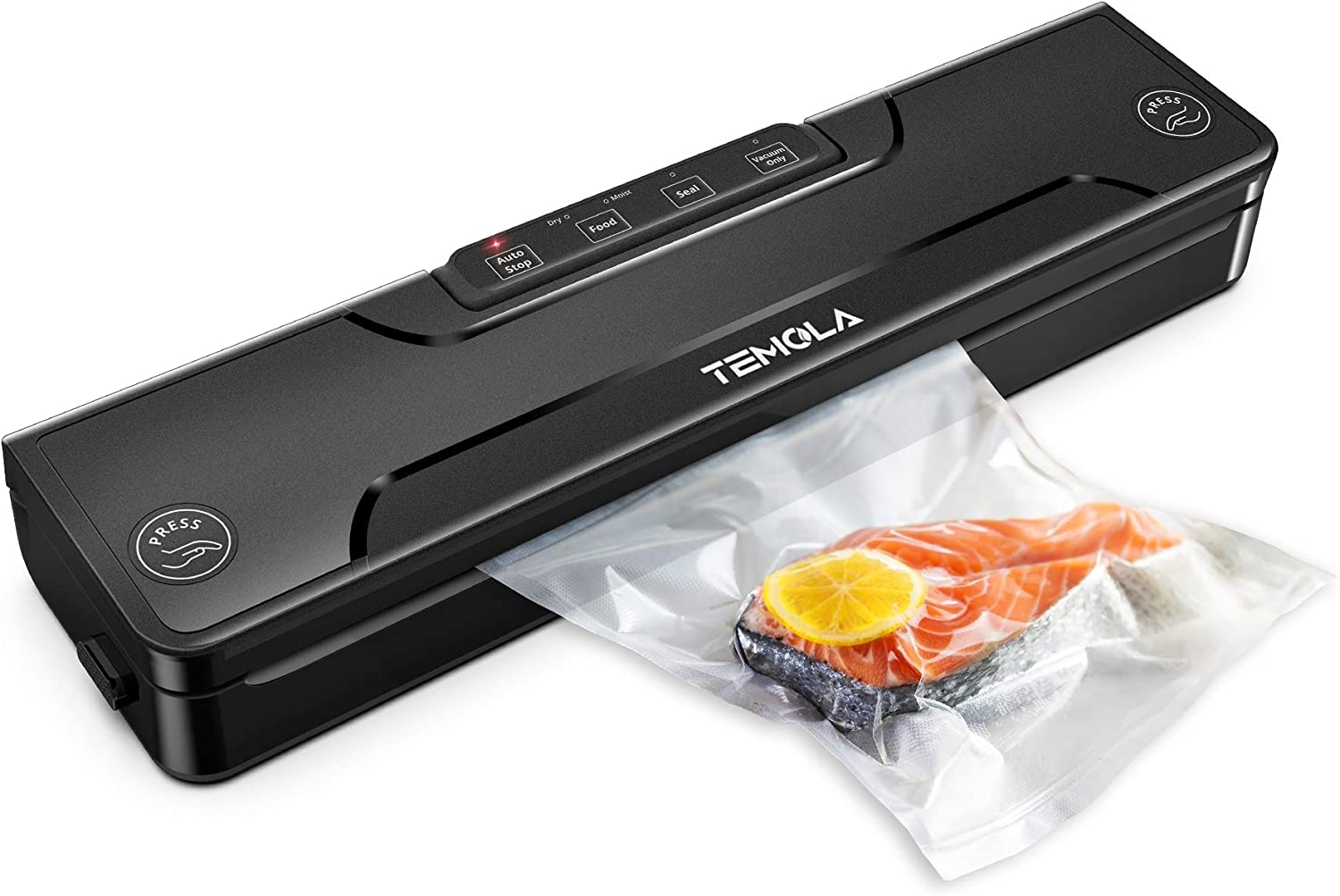Vacuum Sealer Machine, TEMOLA TS20 Food Sealer Automatic Vacuum Sealing System for Food Preservation with Dry & Moist Food Modes and Starter Kit (Vacuum Sealer Bag X 20 included)