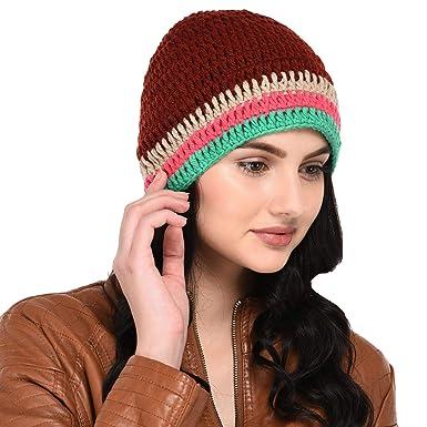 faa54e43897 VR Designers Women s Handknitted Woollen Skull Cap (vrcp-130818-015 ...