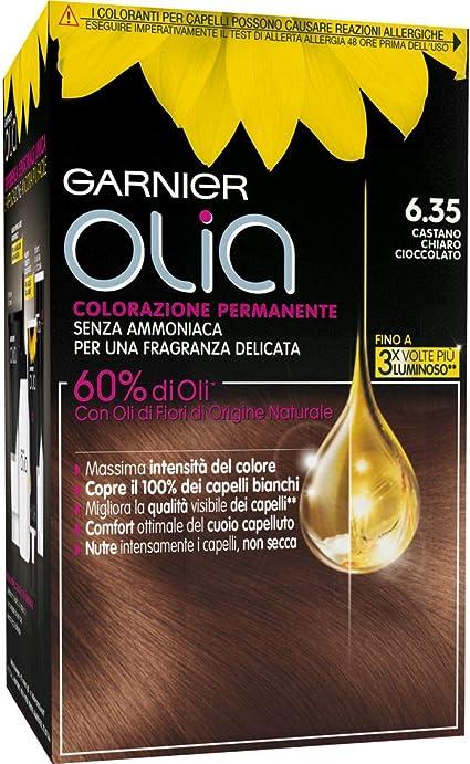 Coloración permanente y decoloración Garnier Olia 6.35 ...