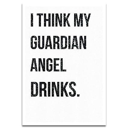 Amazoncom Visionary Prints Guardian Angel Modern Typography Art