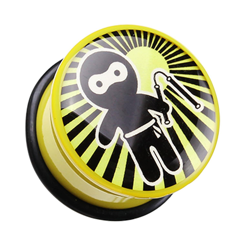 Sold as a Pair Ninja Nunchaku Single Flared Ear Gauge Plug