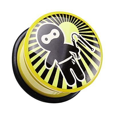 Amazon.com: Ninja Nunchaku Single Flared Ear Gauge Plug - 7 ...