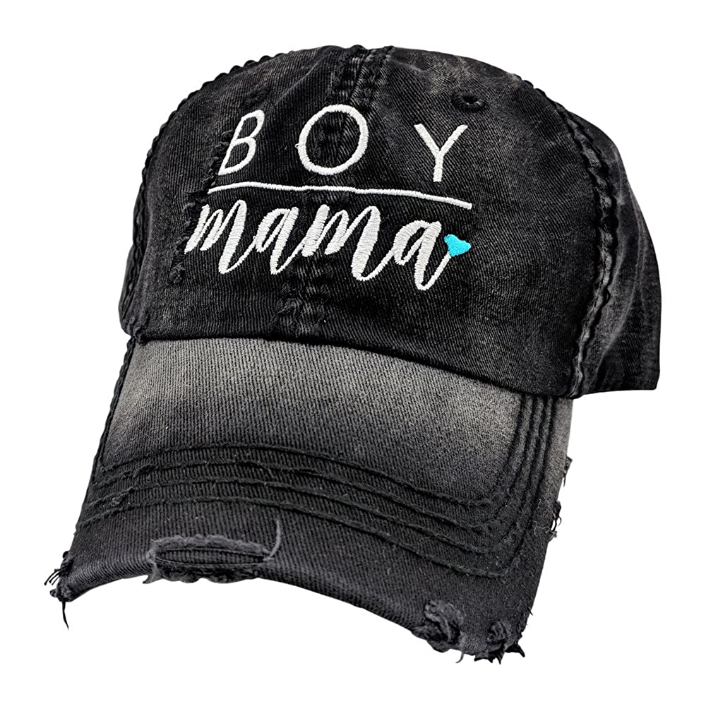 61ec312806d3ed Loaded Lids Women's, Customizable, Mom, Boy Mama, Embroidered Baseball Cap  (Black/Customized) at Amazon Women's Clothing store: