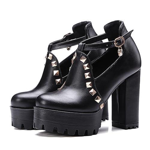 f86aae07f2 Daniig 2017 New Spring Buckle Casual Shoes Women High Heels Fashion Rivets  Platform Russian Ladies Shoes Crystal Big Size 43  Amazon.ca  Shoes    Handbags