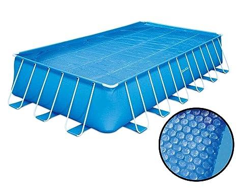 Summer Waves Lámina solar para piscina Calefacción solar Cover Pool, rechteckig - 7,32x3