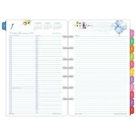 Kathy Davis for Day-Timer 2019 Planner / Appointment Book Refill, 5-1/2