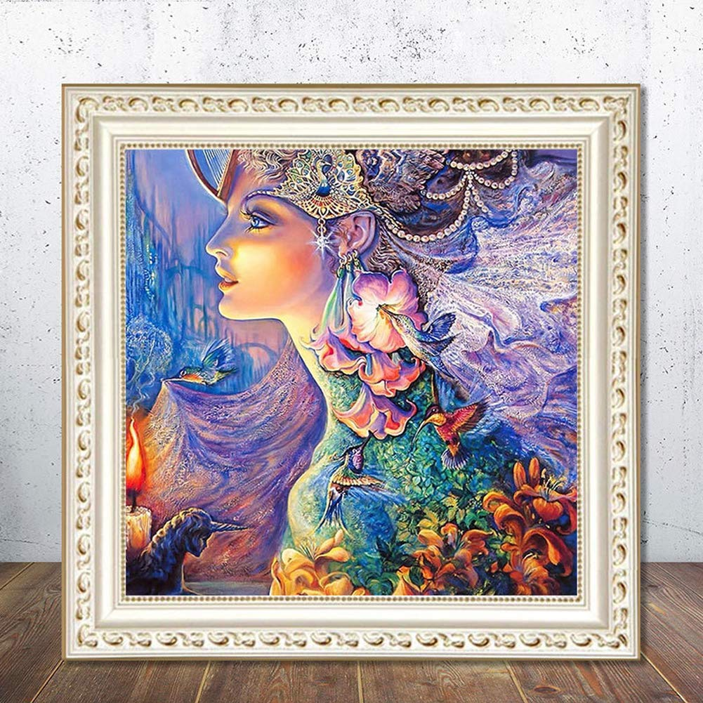 MYSNKU 5D DIY Diamond Painting Kits Full Drill Diamond Embroidery for Adults and Children,Home Art Craft Wall Decor (Beauty, 30x30 cm)