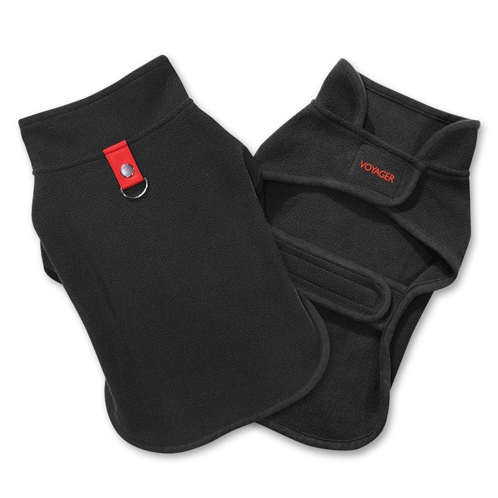 Best Pet Supplies 251-BK-S Voyager Windproof Fleece Pet Jacket, Small, Black by Best Pet Supplies, Inc. (Image #6)