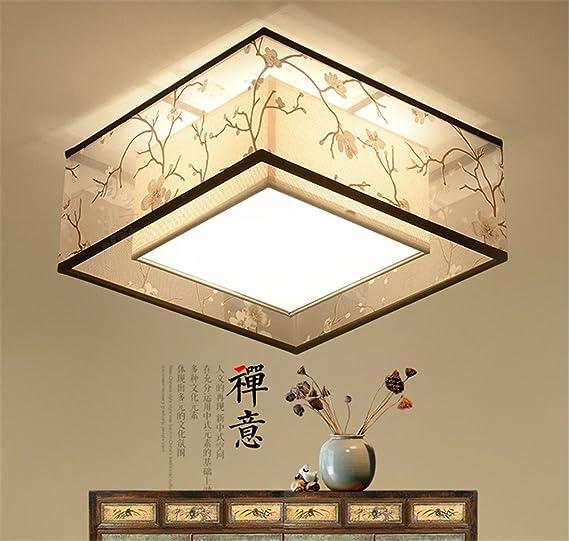 Larsure Estilo Vintage Modern Iluminación de techo Plafones Plafón techo telas dormitorio luces led,500mm