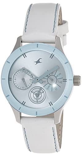 1. Fastrack Monochrome Analog Blue Dial Watch