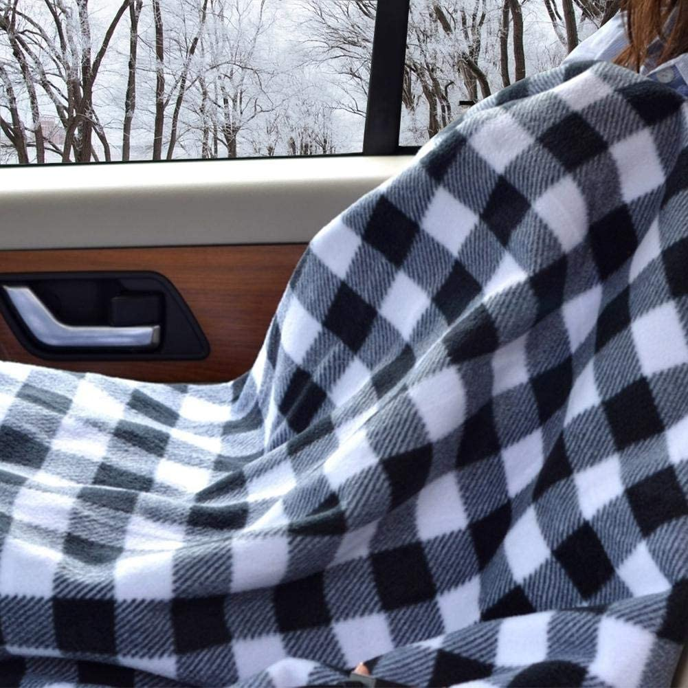 Jiang Hui 12V Car Electric Heating Blanket Car Electric Blanket Energy Saving Heated Travel Blankets for Kids and Adults for Cold Days and Nights Road Trip Adjustable Temperature 150110cm