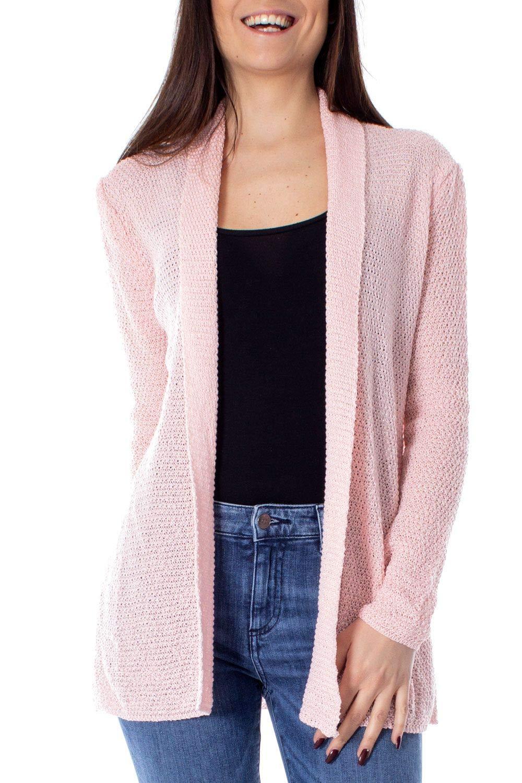One.0 Women's OZ17PINK Pink Acrylic Cardigan