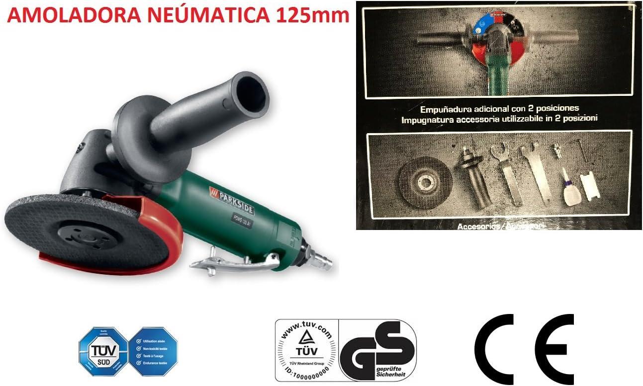 AMOLADORA ANGULAR RADIAL NEUMATICA DISCO DE 125mm 10000rpm ...