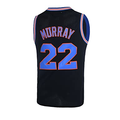45cf5726e0b Mens Basketball Jerseys  22 Bill Murray Space Jam Jersey White Black (Black