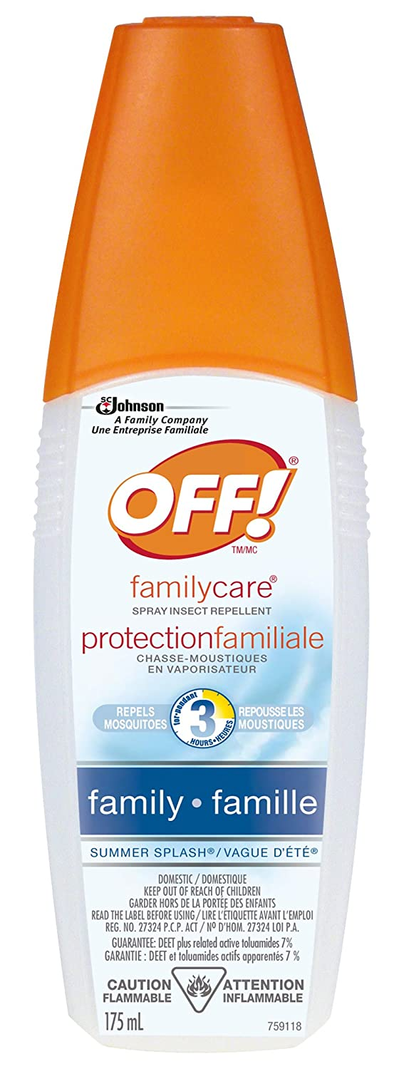 OFF! Family Care Spray Insect Repellent with Summar Splash Scent - 175ml SC Johnson 660015