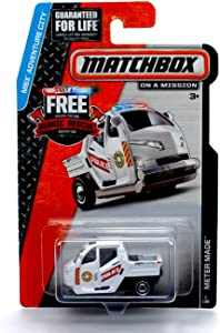 Matchbox Meter Made (White) MBX Adventure City 2014 on a Mission Basic Die-Cast Vehicle (#2 of 120)