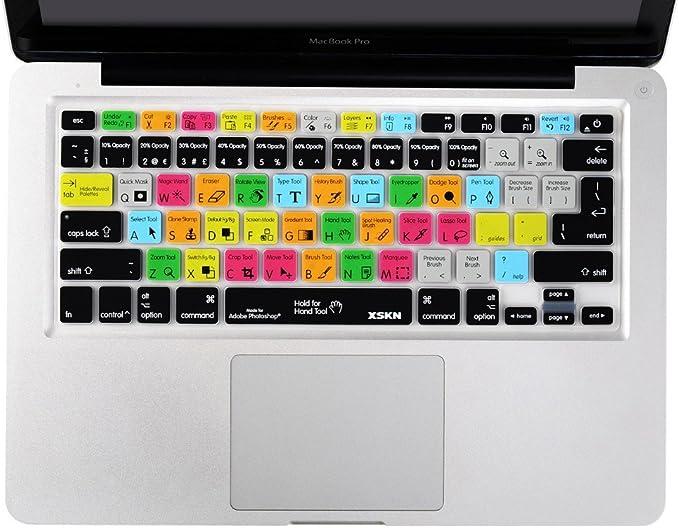 XSKN Funda de teclado con diseño de Adobe Photoshop PS, de silicona, para Apple MacBook, MacBook Air, MacBook Pro 13, 15 y 17 pulgadas (versión EU y EE. UU.): Amazon.es: Electrónica