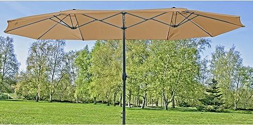 Markenlos Alta calidad Doble sombrilla grande – Jardín pantalla Manivela pantalla Protección Solar: Amazon.es: Jardín