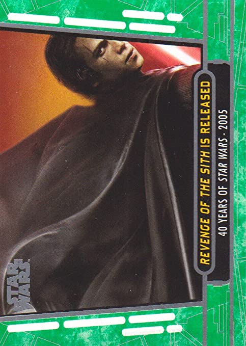 2017 Topps Star Wars 40th Anniversary 89 Revenge Of The Sith Is Released