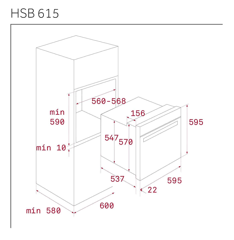 Bosch HBG632BS1 Gro/ßbackofen 71 l Edelstahl Tocar-Einsatz 71 l