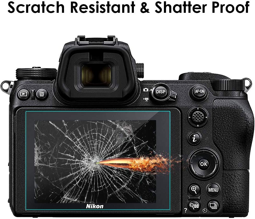 MWOOT 3 Pezzi Pellicole Protettive per Nikon Z6 e Nikon Z7 Anti Graffi Vetro Temperato per Protezione dello Schermo