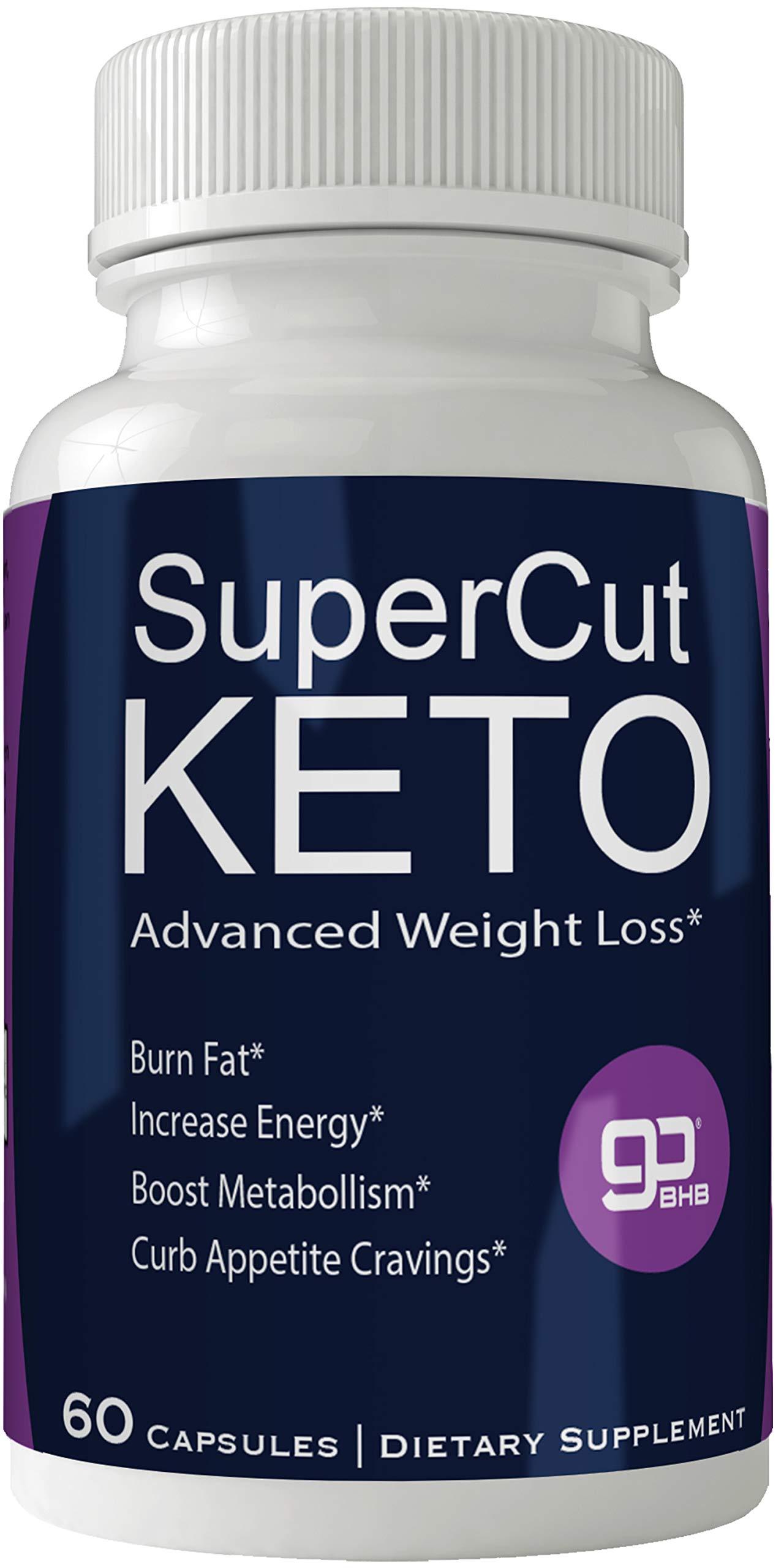 Supercut Keto Diet Pills Weight Loss Support Pill, BHB Burn Fat Supplement Pill, 800 mg Formula with New True Slim GO BHB Salts Formula, Advanced Appetite Suppressant Capsules ... by nutra4health LLC