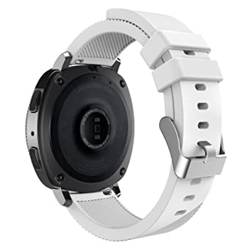 MoKo Correas Samsung Gear S2 Classic, 20 mm Pulsera Gear Sport, Banda Silicona para Samsung Gear Sport SM-R600 / Gear S2 Classic Smartwatch, Blanco