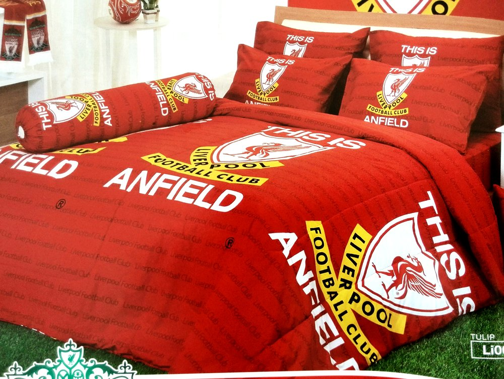 Liverpool Football Club Official Licensed Bedding Set, Bed Sheet, Pillow Case, Bolster Case, Comforter, Gift Guide, Gift Ideas LV1 (Set C+1, King Size)